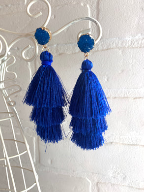Triple Threat Fringe Earrings