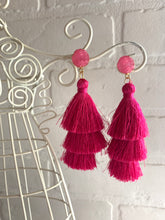 Load image into Gallery viewer, Triple Threat Fringe Earrings
