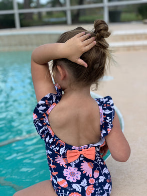 Ruffle Butts 'Botanical Beach' Ruffle One Piece