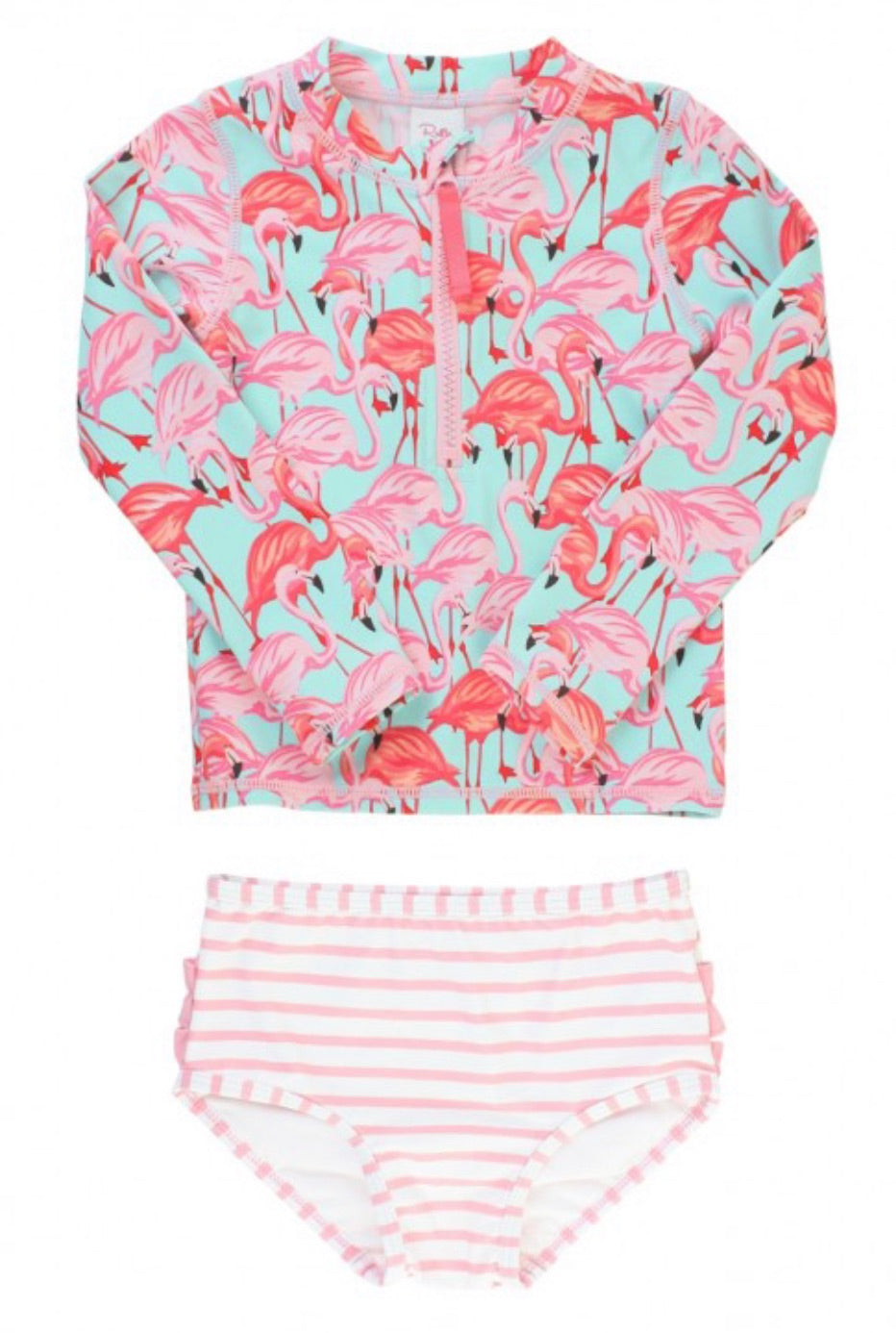 Flamingo 2 piece long sleeve rash guard