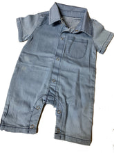 Load image into Gallery viewer, Unisex chambray romper