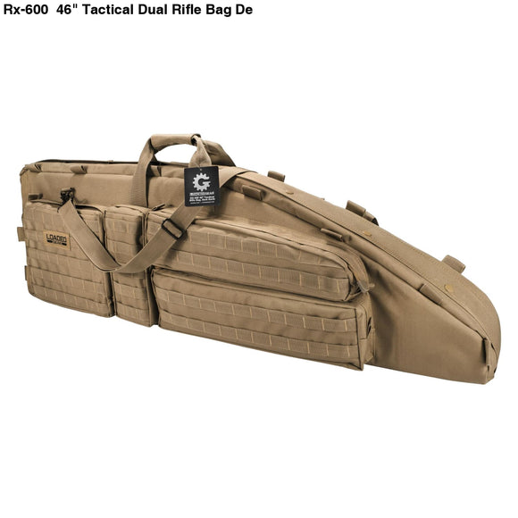 Sports & Entertainment Charitable 40 Dual Rifle Gun Bag Tactical Rifle Sniper Carrying Case Gun Bag Bk