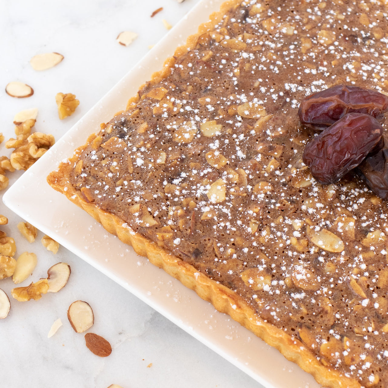Dates and Nuts Tart