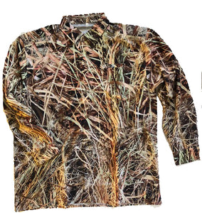 Coastal Zone OptaDry Long Sleeve Button Down BlendHD Camouflage
