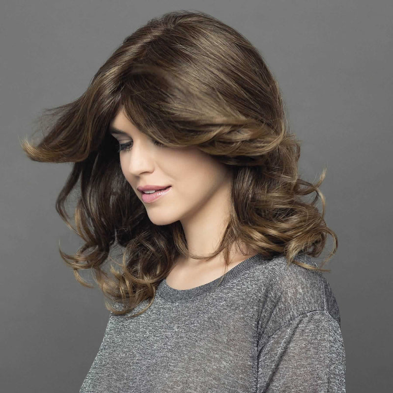High Tech Deluxe Long Monofilament + Hand-Tied Lace Front Wig by Gisela Mayer