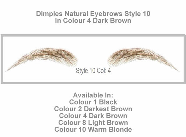 Dimples Natural Eyebrows Style 10