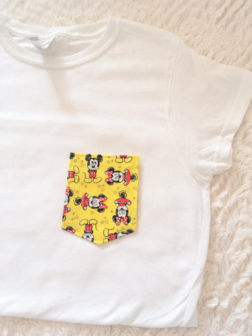 Cartoon Mouse Tee Pocket