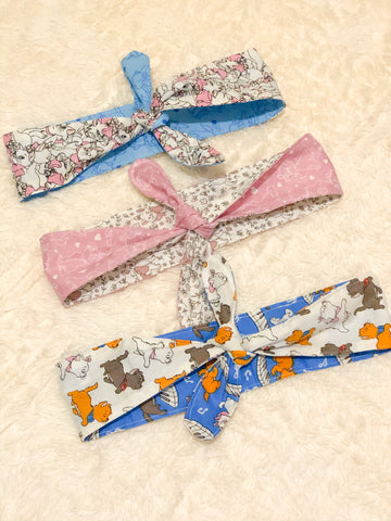 Posh Kitties Reversible Knotty Headband