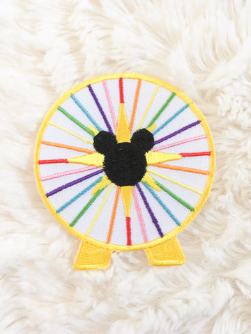 Mouse's Fun Wheel Iron-On Patch
