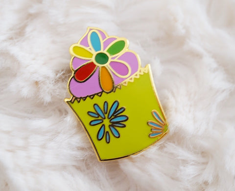 Cupcake of Joy Enamel Pin