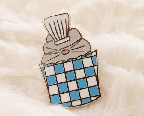 French Rat Cupcake Enamel Pin