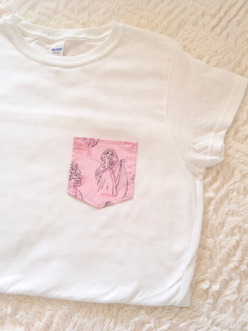 Pink Princess Tee Pocket