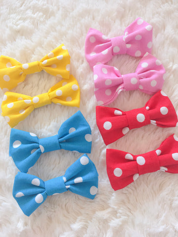 Polka Dot Shoe Bows