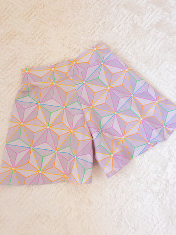 Rainbow Spaceship High Waisted Shorts