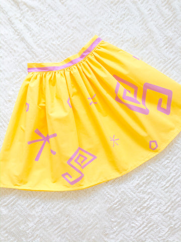 Yellow Teacup Skirt