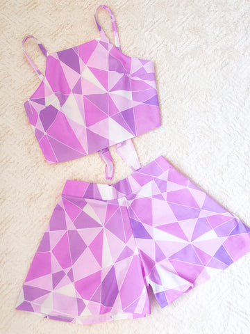 Galactic Purple Wall Crop Top