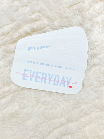 Everyday Snow Sticker
