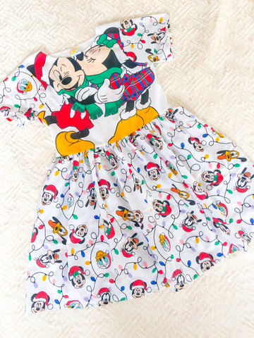 Christmas Lights smock UK 16