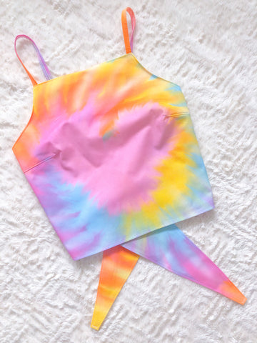 Mouse Tie-Dye Crop Top
