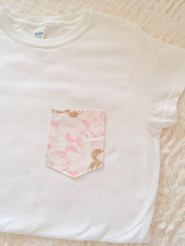 Rose Gold Mouse Tee Pocket