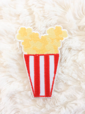 Mouse Popcorn Iron-On Patch