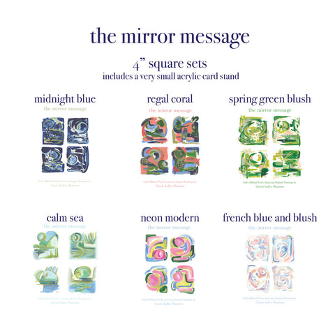 "Mirror Message Small 4"" Square sets *No Frame*"
