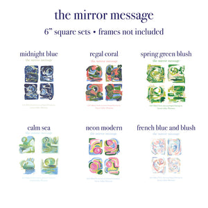 "Mirror Message Large 6"" Square sets *No Frame*"