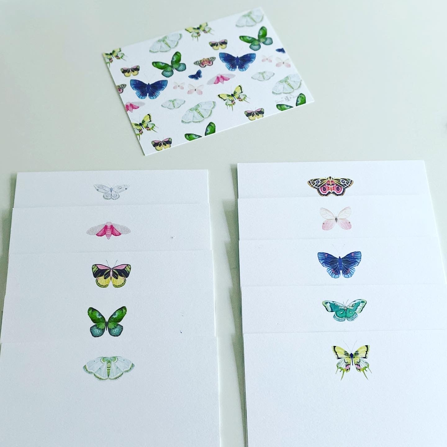 Butterflies Stock note set