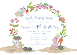 Bunny Invitation