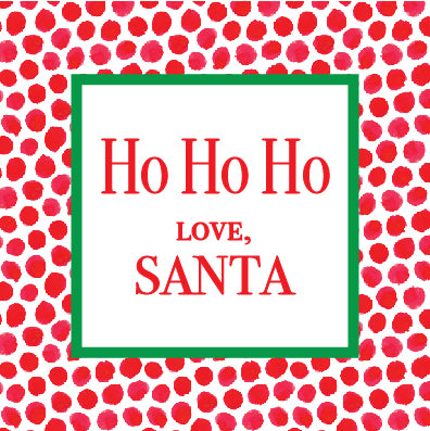 Ho Ho Ho Gift Tag Stickers