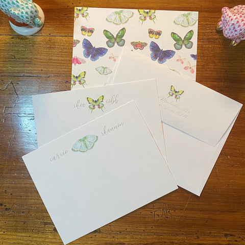 Personalized Butterflies A2 Note Set
