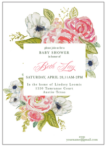 Floral Shower Invitation