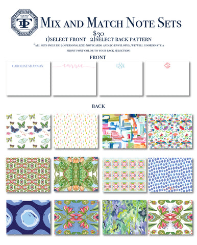 Spring Special MIX AND MATCH NOTE SETS