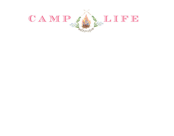 Camp Life Note Card - Girl