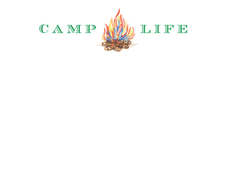 Camp Life Note Card - Boy