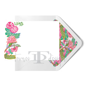 Chang Mai Flowers Note Card set