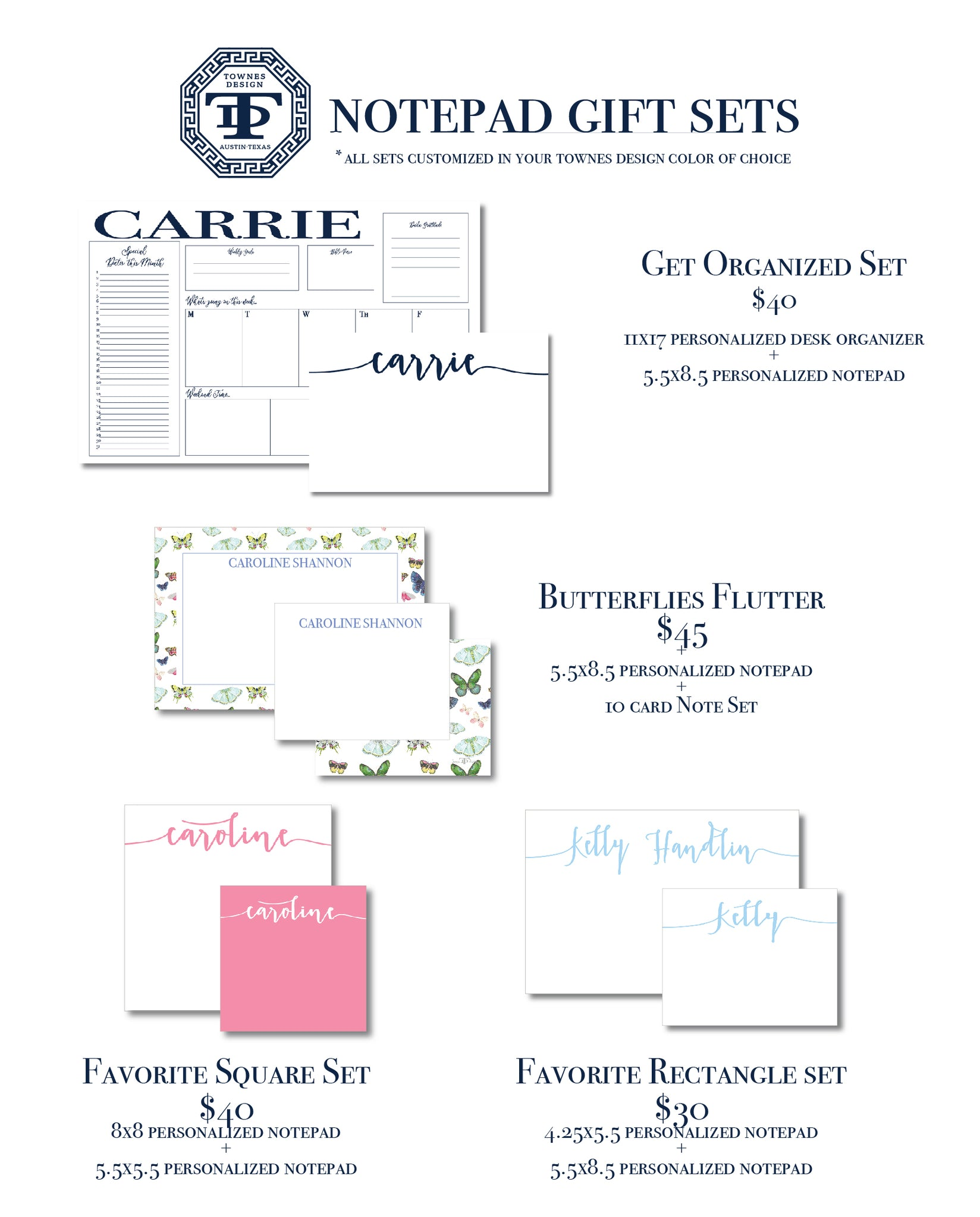 Spring Special Gift Sets With Notepads
