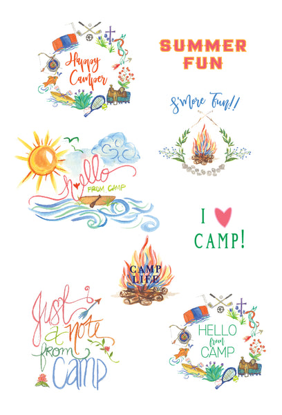 Camp Folded Note w/ Stickers