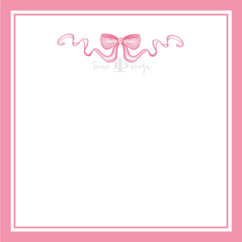 Pink Bow Notepad