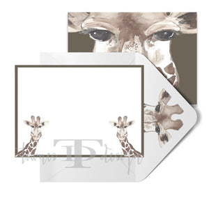 Giraffe Note Card set