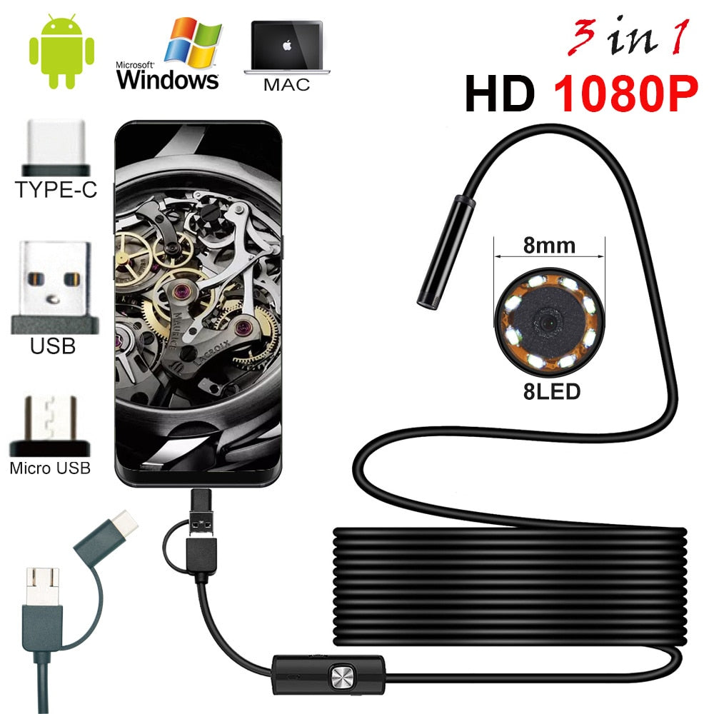 LED WiFi Endoscope HD Camera
