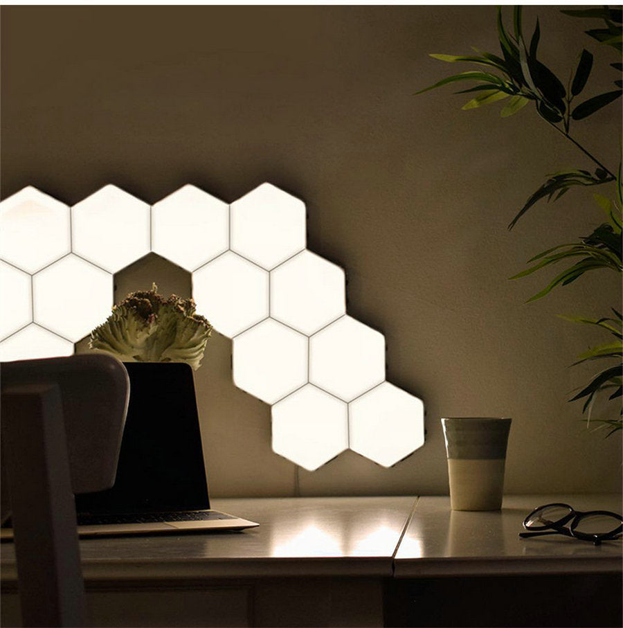 Touch Sense Hexagonal Wall Lights