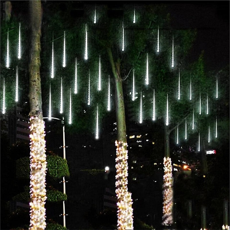 Waterproof LED Icicle Lights (Pack of 8 Light Tubes)