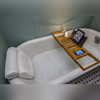Retractable Bamboo Bathtub Table