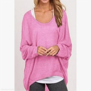 8c0e561a832b4f Fashion Youth Loose Plain Round Neck Long Sleeve Sweater – hincloth