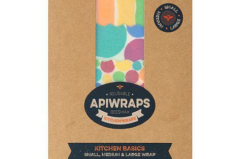 Kitchen Basics Set - Apiwraps Reusable Beeswax Wraps