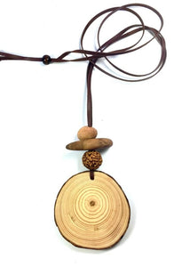 Timber Slice Necklace - Elements Jewellery