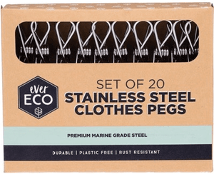 Ever Eco Stainless Steel 20 pack Pegs - Live Life Green