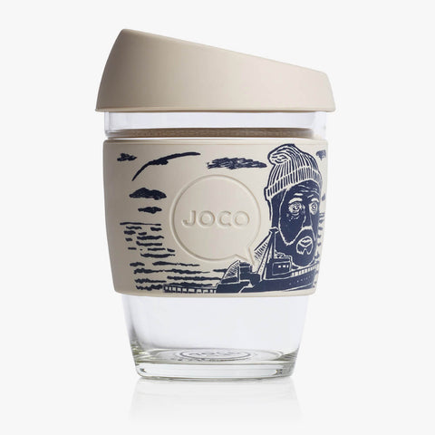 joco reusable glass coffee cup