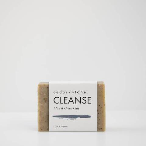 Cedar & Stone Mint & Clay cleanse bar